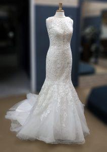 Rhinestone Collar Dress Front
