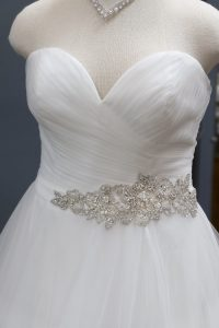 Sweetheart Belt Detail on Wedding Dress
